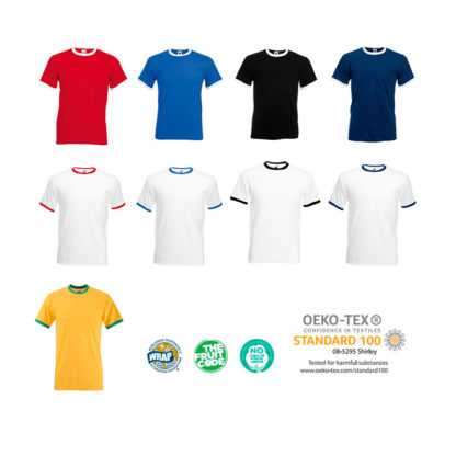 Colores camiseta Ringer T valueweight Fruit of The Loom