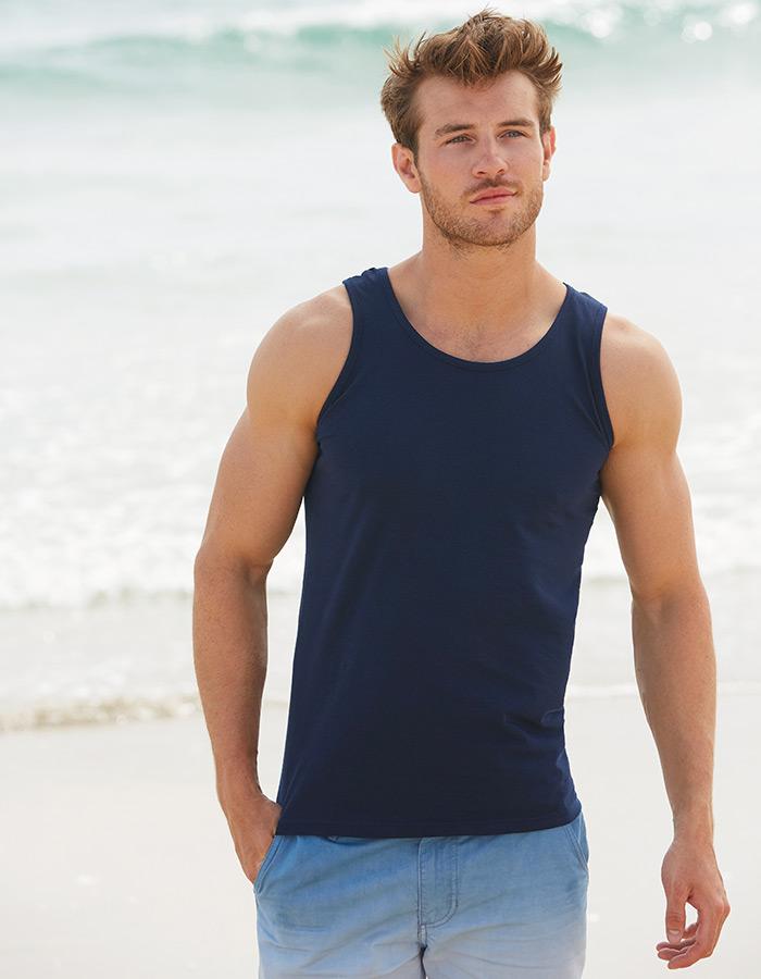 Camiseta sin mangas hombre atleta Fruit of The Loom personalizadas