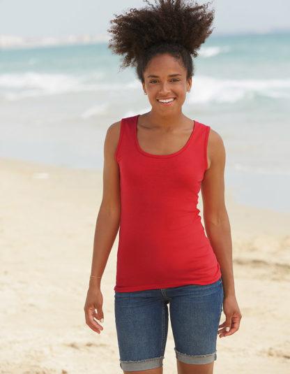 Camiseta sin mangas para mujer personalizadas Fruit of The Loom