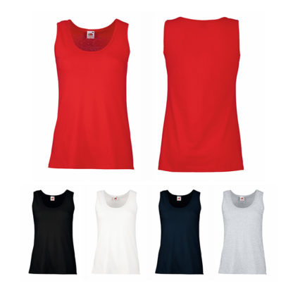 Colores camisetas sin mangas mujer Fruit of The Loom