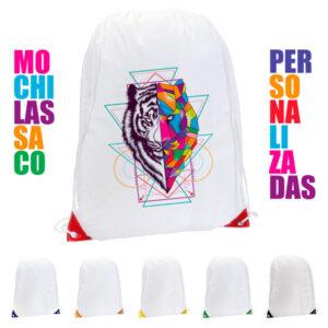 Mochilas saco blancas personalizadas Nofler