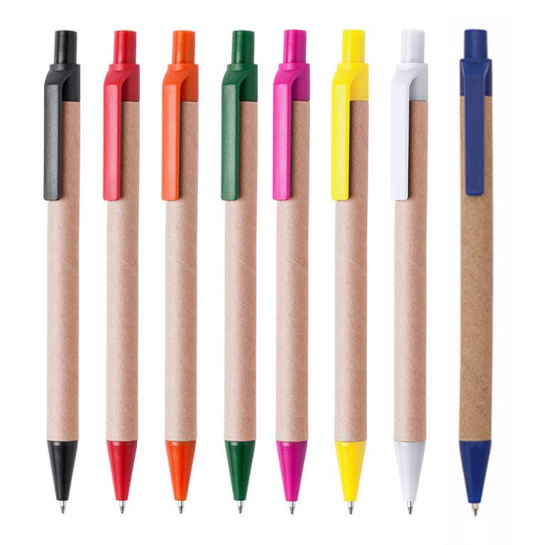 Bolígrafos personalizados cartón reciclado Tori