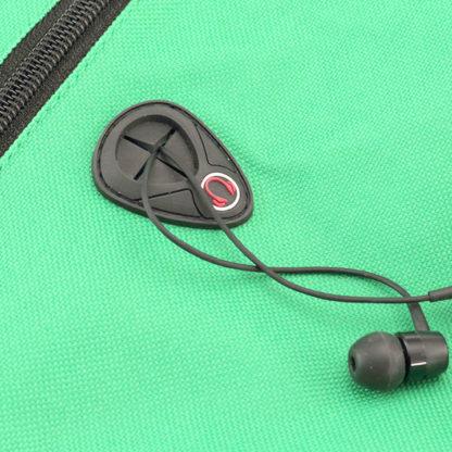 Detalle auricular Área de impresión Mochilas promocionales Humus