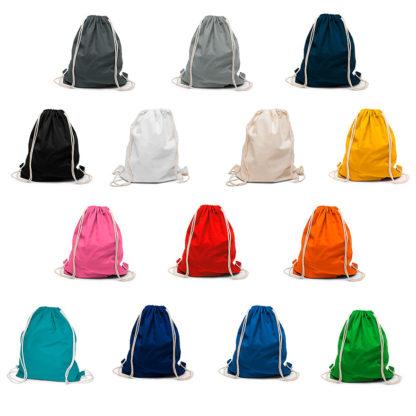Colores Mochilas de algodón personalizadas Boston